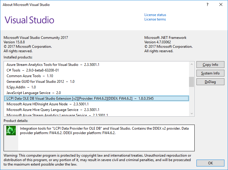 About Microsoft Visual Studio