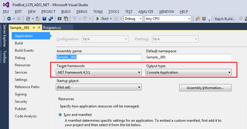 Using «LCPI ADO NET Data Provider for OLE DB» with Firebird