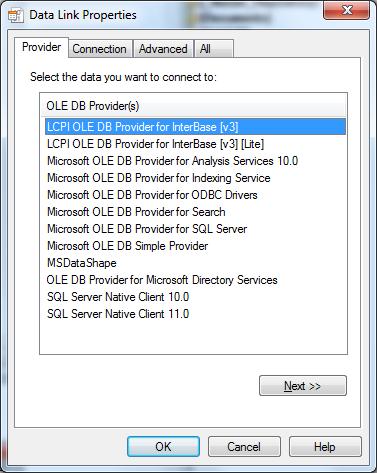 Using «LCPI ADO NET Data Provider for OLE DB» with Firebird SQL